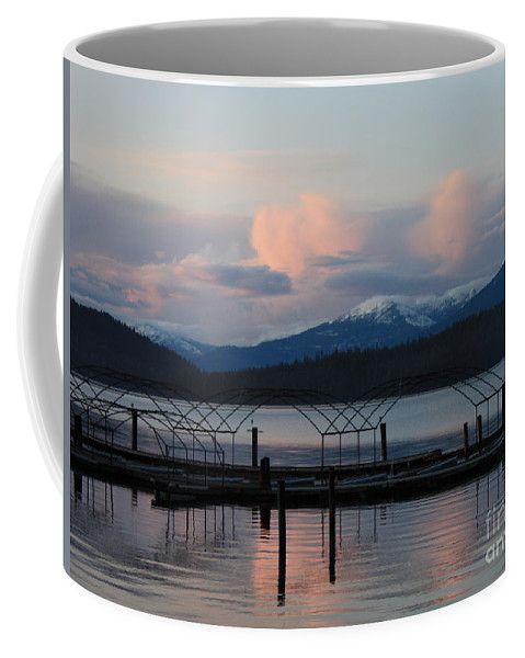 Priest Lake Coffee Mug featuring the photograph Sunset Reflecting Off Priest Lake by Carol Groenen
