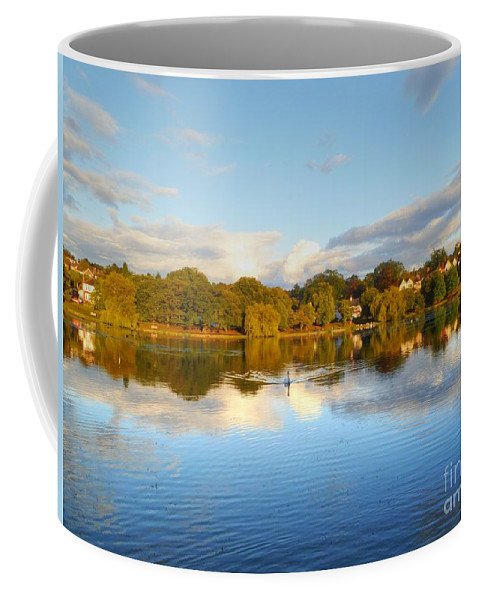 Sunset Coffee Mug featuring the photograph Sunset Reflections On The Lake by Vicki Spindler