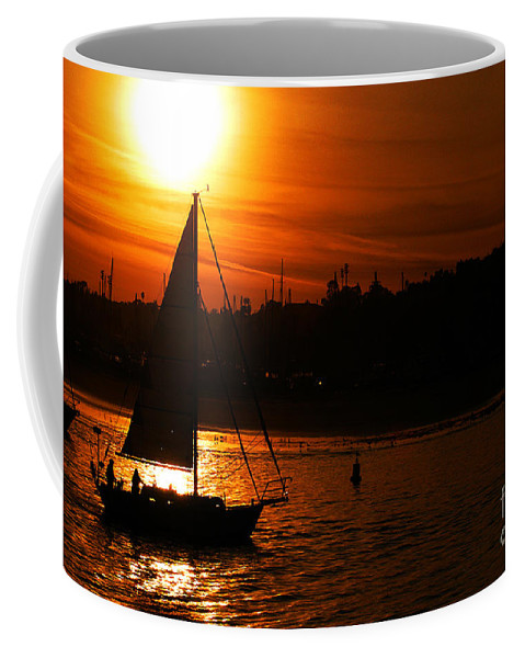 Clay Coffee Mug featuring the photograph Sunset Sailing by Clayton Bruster