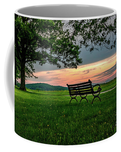 Vivid Coffee Mug featuring the photograph Sunset Seating by Howard Roberts
