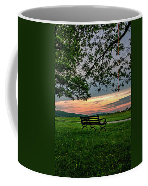 Valley Coffee Mug featuring the photograph Sunset Seating Portrait by Howard Roberts