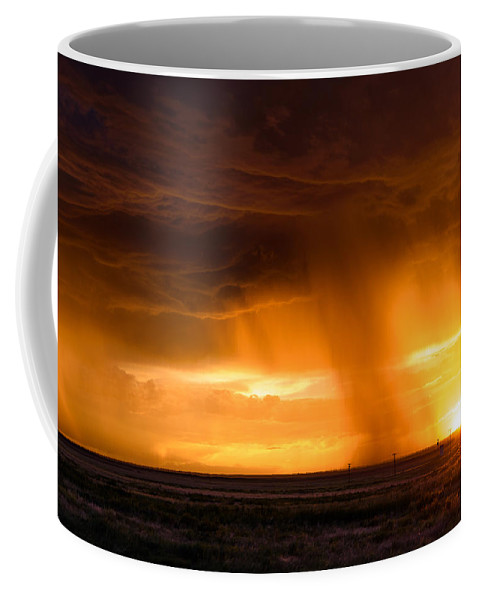 Sunset Coffee Mug featuring the photograph Sunset Shower by Paul Moore