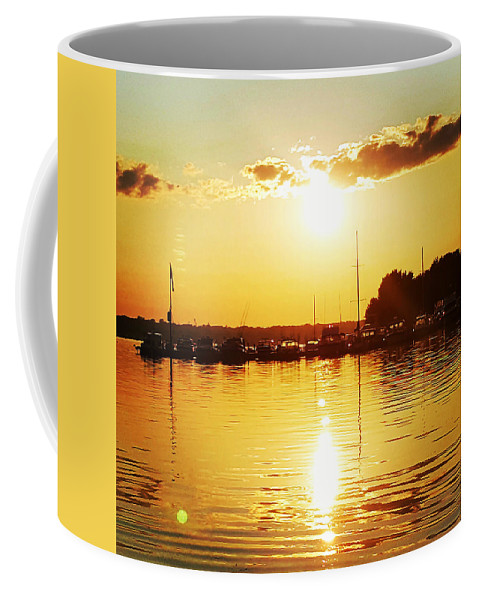 Sunset Coffee Mug featuring the photograph Sunset Silhouette by Alex Sowinski