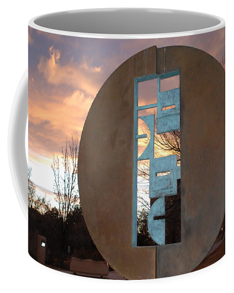 Pop Art Coffee Mug featuring the photograph Sunset Thru Art by Rob Hans
