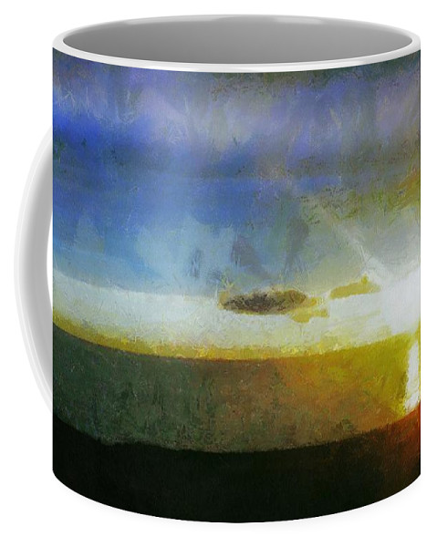 Canadian Coffee Mug featuring the painting Sunset Under The Clouds by Jeffrey Kolker