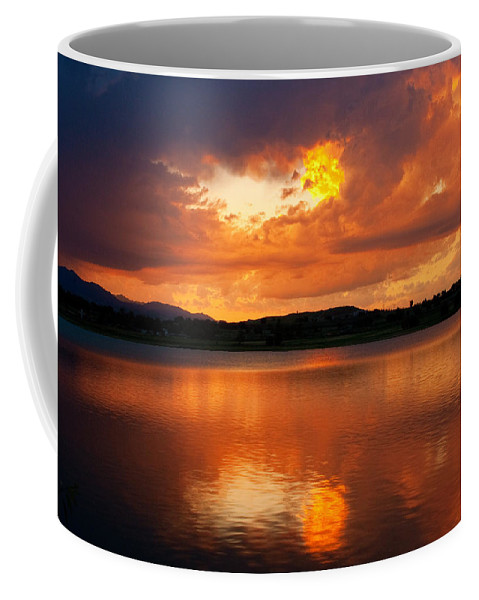 Golden Coffee Mug featuring the photograph Sunset With A Golden Nugget by James BO Insogna
