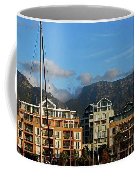Africa Coffee Mug featuring the photograph Sunset With Table Mountain by Harvey Barrison