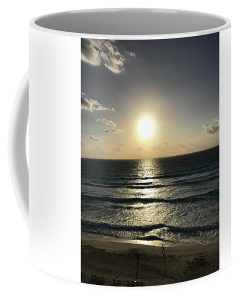 Sunrise Coffee Mug featuring the photograph Sunrises And Footprints by Brittany Nicotra