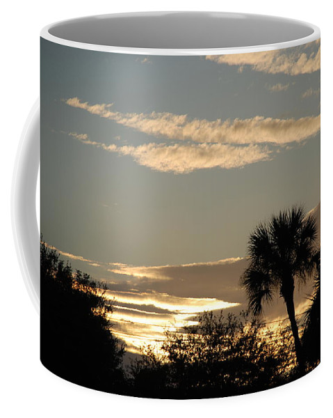 Clouds Palm Trees Coffee Mug featuring the photograph Sunsets In The West by Rob Hans