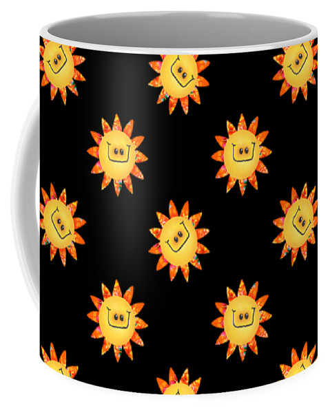 Daisy Coffee Mug featuring the digital art Sunshine Daisy Repeat by Deborah Runham