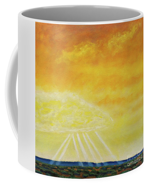 Landscape Coffee Mug featuring the painting Super Seven by Brian Commerford