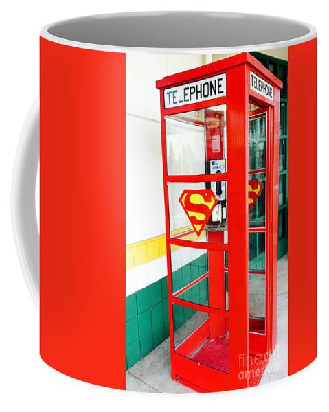 Superman Phone Booth Coffee Mug
