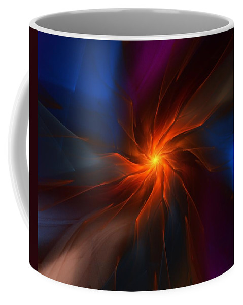 Space Coffee Mug featuring the digital art Supernova by David Lane
