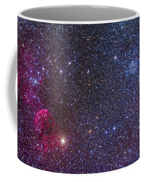 Emission Nebula Coffee Mug featuring the photograph Supernova Remnants And Star Clusters by Alan Dyer