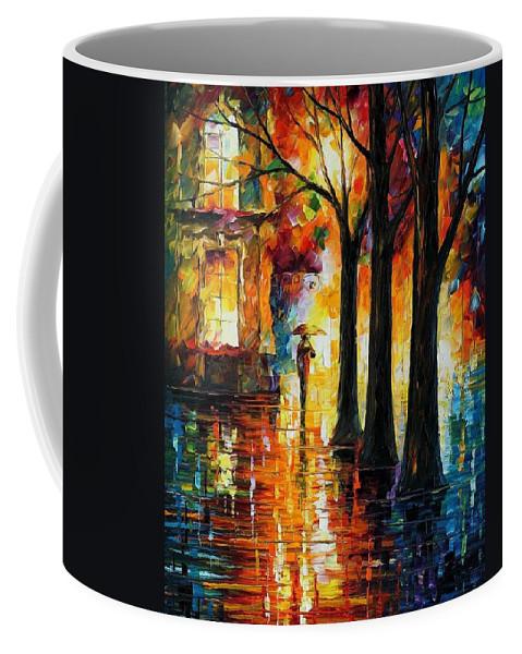 Afremov Coffee Mug featuring the painting Suppressed Memories by Leonid Afremov