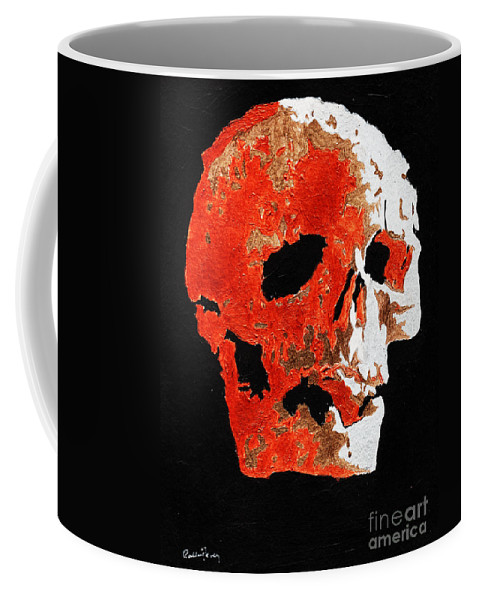 Skull Coffee Mug featuring the painting What Lies Beneath by Callan Art