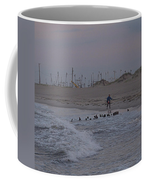 Surf Coffee Mug featuring the photograph Surf Caster I I by Newwwman