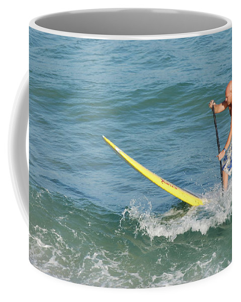 Sea Scape Coffee Mug featuring the photograph Surfer Dude by Rob Hans
