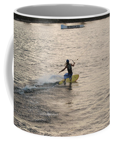 Sun Coffee Mug featuring the photograph Surfing by Rob Hans