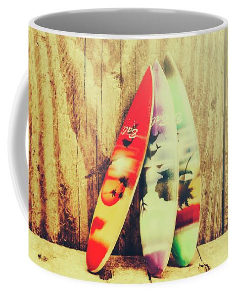 Bali Coffee Mug featuring the photograph Surfing Still Life Artwork by Jorgo Photography - Wall Art Gallery
