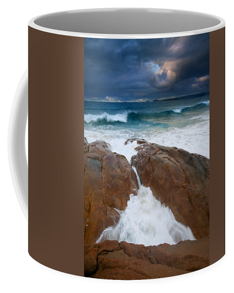 Waves Coffee Mug featuring the photograph Surfs Up by Mike Dawson