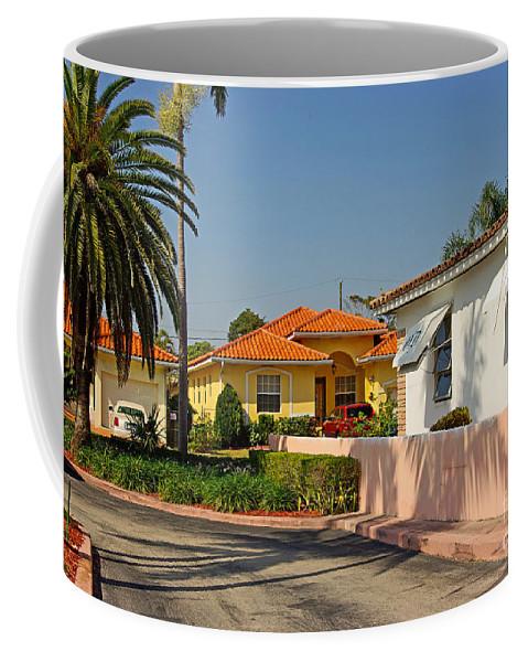 Florida Coffee Mug featuring the photograph Surfside Neighborhood In Miami Beach by Zalman Latzkovich