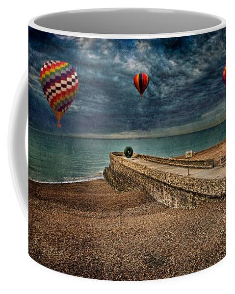 Beach Coffee Mug featuring the digital art Surreal Beach by Chris Lord