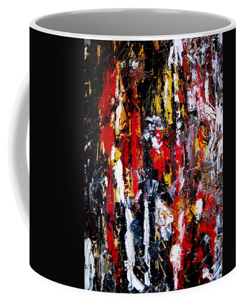 Oil Painting Coffee Mug featuring the painting Surreal by Fareeha Khawaja