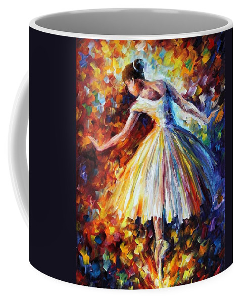 Afremov Coffee Mug featuring the painting Surrounded By Music by Leonid Afremov