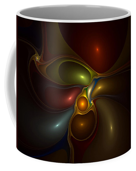 Abstract Coffee Mug featuring the digital art Surrounded by Casey Kotas
