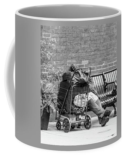 Blackandwhite Coffee Mug featuring the photograph Surviving by Jennifer Wick