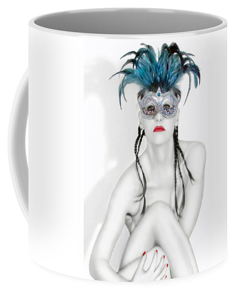 Art Coffee Mug featuring the photograph Survivor - Self Portrait by Jaeda DeWalt