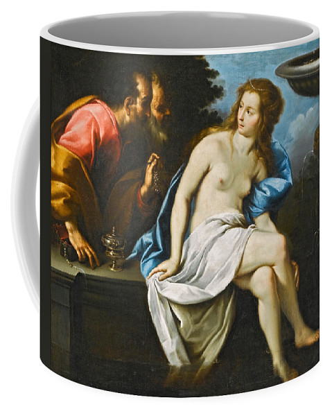 Carlo Francesco Nuvolone Coffee Mug featuring the painting Susanna And The Elders by Carlo Francesco Nuvolone