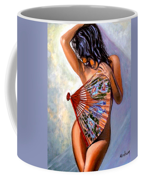 Women Coffee Mug featuring the painting Susie by Jose Manuel Abraham