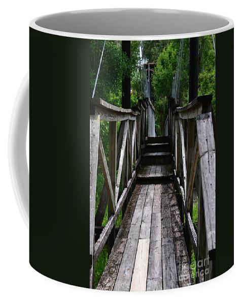 Bridge Coffee Mug featuring the photograph Suspension Bridge by Carol Bradley