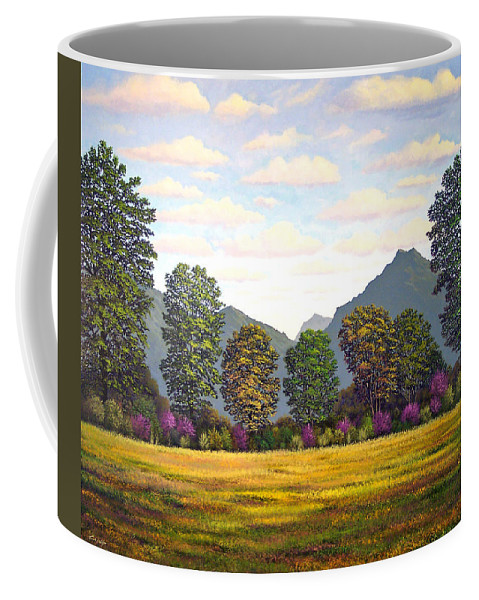 Mountains Coffee Mug featuring the painting Sutter Buttes In Springtime by Frank Wilson