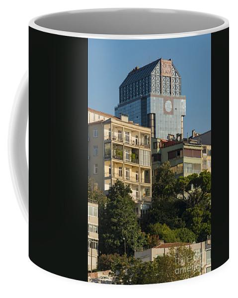 Sisli Coffee Mug featuring the photograph Suzer Plaza by Bob Phillips
