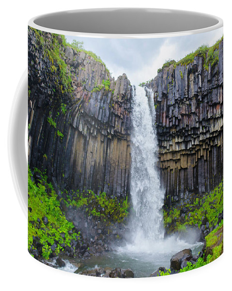 Iceland Coffee Mug featuring the photograph Svartifoss, Iceland by Kevin Gallagher