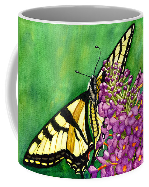 Butterfly Coffee Mug featuring the painting Swallowtail 1 by Catherine G McElroy