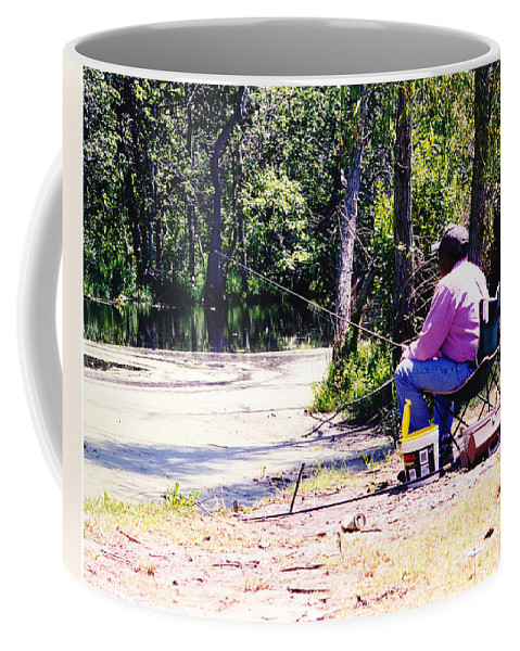 Swamps Coffee Mug featuring the photograph Swamp Fishing by Michelle Powell