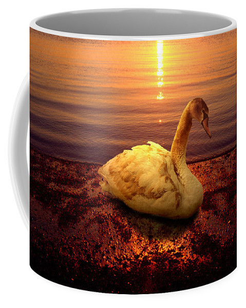 Animal Coffee Mug featuring the photograph Swan Lake by Yuri Lev