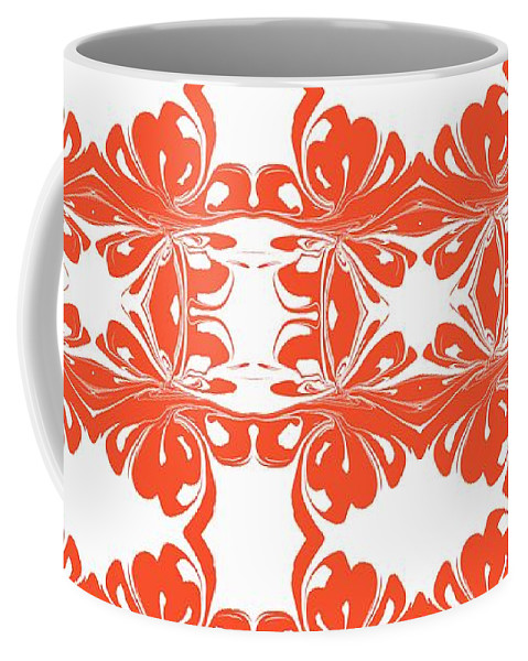 Coffee Mug featuring the digital art Swanky by Heartful Touch Designs