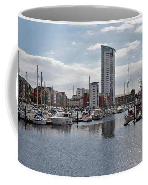 Swansea Coffee Mug featuring the photograph Swansea Marina by Kevin Round