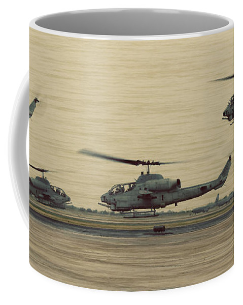 Bell Coffee Mug featuring the photograph Swarming Cobras by Ricky Barnard