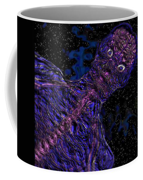 Abstract Coffee Mug featuring the digital art Swash by Steven Scanlon