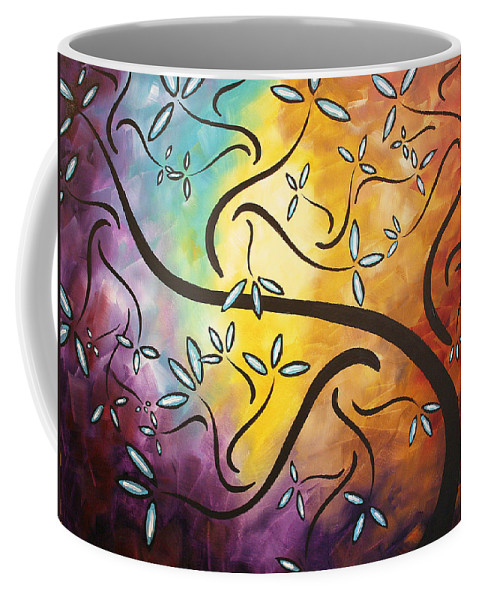 Abstract Coffee Mug featuring the painting Sweet Blossom By Madart by Megan Duncanson