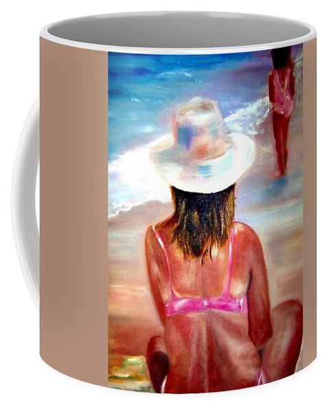 Beach Coffee Mug featuring the painting Sweet Child Of Mine by Sandy Ryan