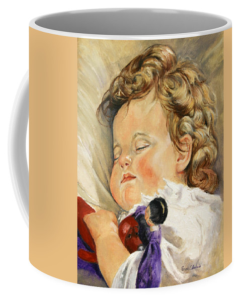 Children Portraits Coffee Mug featuring the painting Sweet Dreams by Portraits By NC