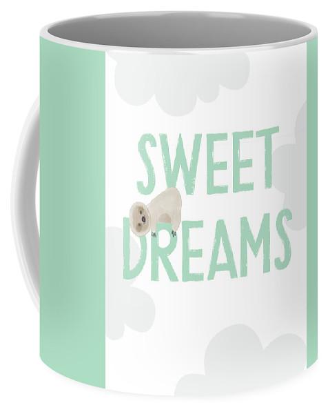 Sloth Coffee Mug featuring the digital art Sweet Dreams Sloth 2- Art by Linda Woods by Linda Woods