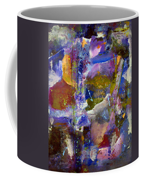 Abstract Coffee Mug featuring the painting Sweet Inspiration by Ruth Palmer